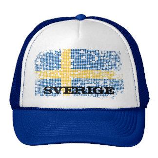 grunge Swedish flag, SVERIGE Trucker Hat