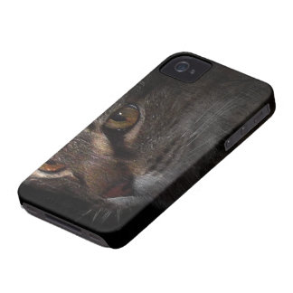 Grunge Tabby Cat Face in Shadow Case-Mate iPhone 4 Cases