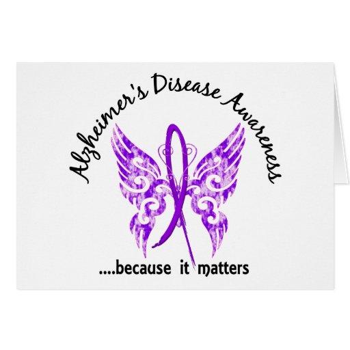 Grunge Tattoo Butterfly 6.1 Alzheimer's Disease Greeting Card