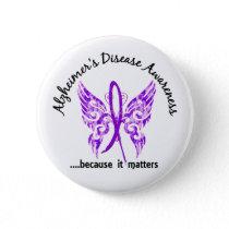 Grunge Tattoo Butterfly 6.1 Alzheimer's Disease Pinback Button