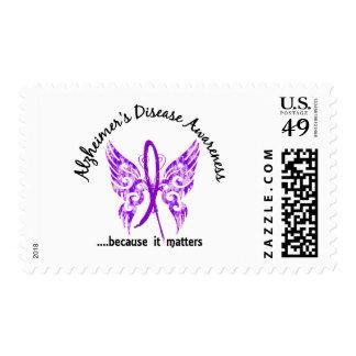Grunge Tattoo Butterfly 6.1 Alzheimer's Disease Postage Stamp