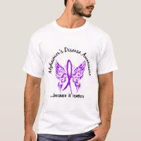 Grunge Tattoo Butterfly 6.1 Alzheimer's Disease T-Shirt