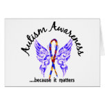 Grunge Tattoo Butterfly 6.1 Autism Greeting Card