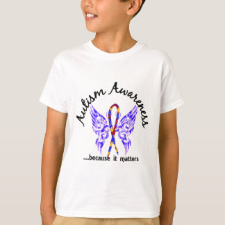 Grunge Tattoo Butterfly 6.1 Autism T-Shirt