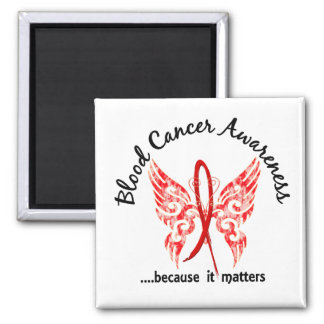 Grunge Tattoo Butterfly 6.1 Blood Cancer Magnet
