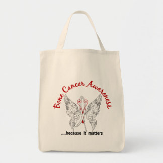 Grunge Tattoo Butterfly 6.1 Bone Cancer Canvas Bags