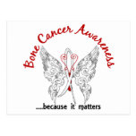 Grunge Tattoo Butterfly 6.1 Bone Cancer Post Cards