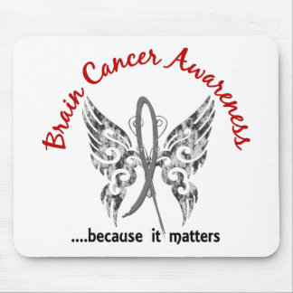 Grunge Tattoo Butterfly 6.1 Brain Cancer Mouse Pad