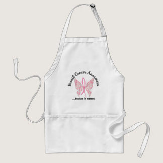Grunge Tattoo Butterfly 6.1 Breast Cancer Adult Apron