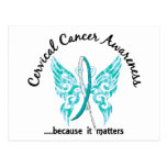 Grunge Tattoo Butterfly 6.1 Cervical Cancer Postcard