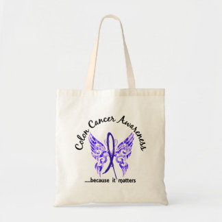Grunge Tattoo Butterfly 6.1 Colon Cancer Tote Bag