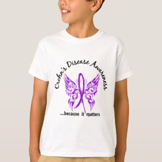 Grunge Tattoo Butterfly 6.1 Crohn's Disease T-Shirt