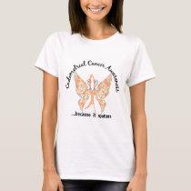Grunge Tattoo Butterfly 6.1 Endometrial Cancer T-Shirt