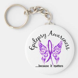 Grunge Tattoo Butterfly 6.1 Epilepsy Basic Round Button Keychain