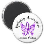 Grunge Tattoo Butterfly 6.1 Epilepsy Fridge Magnets