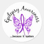 Grunge Tattoo Butterfly 6.1 Epilepsy Round Stickers