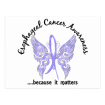 Grunge Tattoo Butterfly 6.1 Esophageal Cancer Postcard