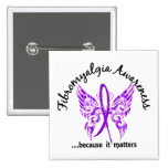 Grunge Tattoo Butterfly 6.1 Fibromyalgia Button