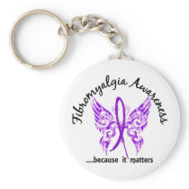 Grunge Tattoo Butterfly 6.1 Fibromyalgia Keychain