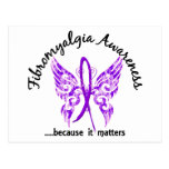 Grunge Tattoo Butterfly 6.1 Fibromyalgia Post Card