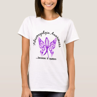 Grunge Tattoo Butterfly 6.1 Fibromyalgia T-Shirt