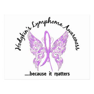 Grunge Tattoo Butterfly 6.1 Hodgkin's Lymphoma Postcard