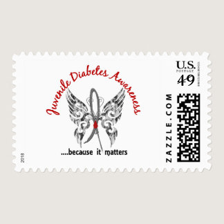 Grunge Tattoo Butterfly 6.1 Juvenile Diabetes Postage