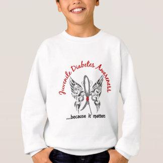 Grunge Tattoo Butterfly 6.1 Juvenile Diabetes Sweatshirt