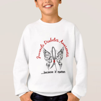 Grunge Tattoo Butterfly 6.1 Juvenile Diabetes Sweatshirt