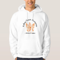 Grunge Tattoo Butterfly 6.1 Kidney Cancer Hoodie