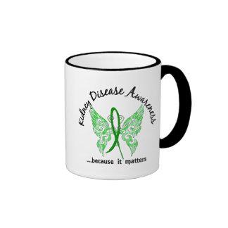Grunge Tattoo Butterfly 6.1 Kidney Disease Ringer Coffee Mug