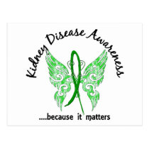Grunge Tattoo Butterfly 6.1 Kidney Disease Postcard