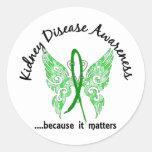 Grunge Tattoo Butterfly 6.1 Kidney Disease Sticker