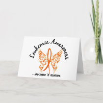 Grunge Tattoo Butterfly 6.1 Leukemia Card