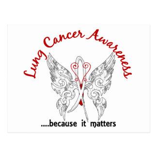 Grunge Tattoo Butterfly 6.1 Lung Cancer Postcard