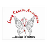 Grunge Tattoo Butterfly 6.1 Lung Cancer Postcards