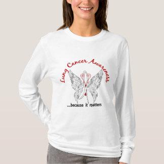 Grunge Tattoo Butterfly 6.1 Lung Cancer T-Shirt