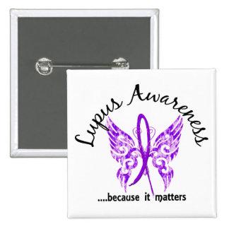Grunge Tattoo Butterfly 6 1 Lupus Pinback Button