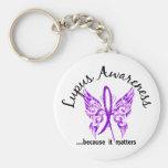 Grunge Tattoo Butterfly 6.1 Lupus Keychain