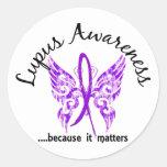 Grunge Tattoo Butterfly 6.1 Lupus Classic Round Sticker