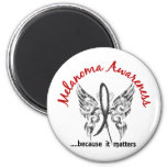 Grunge Tattoo Butterfly 6.1 Melanoma 2 Inch Round Magnet