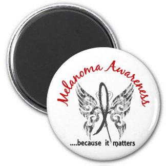 Grunge Tattoo Butterfly 6.1 Melanoma Fridge Magnet