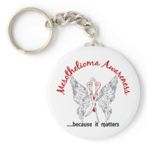 Grunge Tattoo Butterfly 6.1 Mesothelioma Keychain