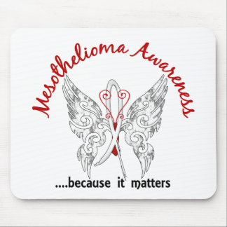 Grunge Tattoo Butterfly 6.1 Mesothelioma Mouse Pad