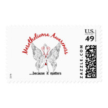 Grunge Tattoo Butterfly 6.1 Mesothelioma Postage