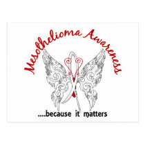 Grunge Tattoo Butterfly 6.1 Mesothelioma Postcard