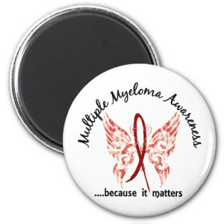 Grunge Tattoo Butterfly 6.1 Multiple Myeloma Magnet