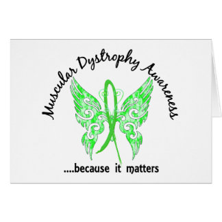 Grunge Tattoo Butterfly 6.1 Muscular Dystrophy Greeting Card