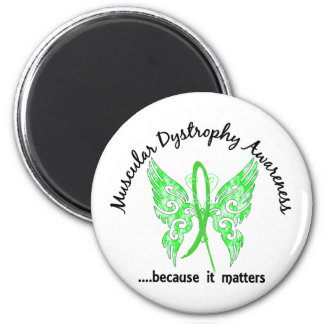 Grunge Tattoo Butterfly 6.1 Muscular Dystrophy 2 Inch Round Magnet