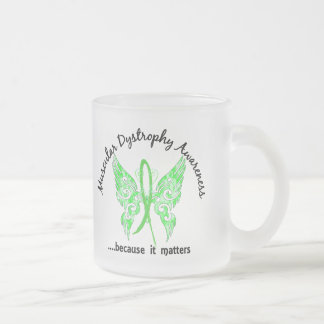 Grunge Tattoo Butterfly 6.1 Muscular Dystrophy 10 Oz Frosted Glass Coffee Mug